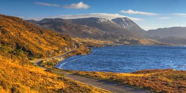 UK03372 UK, Scotland, Highland, Sutherland, Lochinver, Loch Assynt