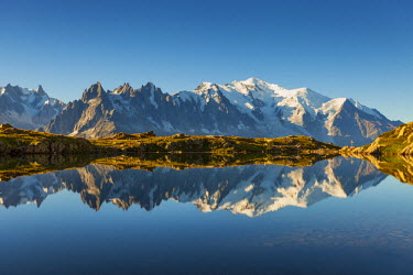 CLKMR54354 Lake chesery, Chamonix, France, Europe.