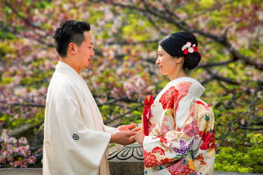JAP1004AW Japanese married couple, Kurashiki, Okayama prefecture, Japan