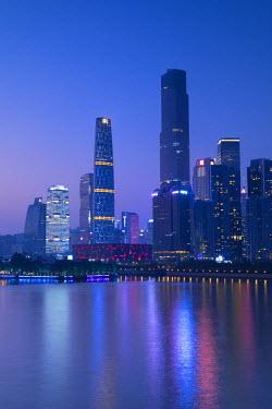 CH11188AWRF Skyline of Tianhe at dusk, Guangzhou, Guangdong, China