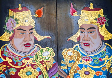 SNG1382AW Door of Thian Hock Keng Temple, Chinatown, Singapore