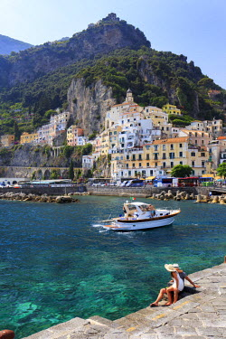 ITA9980AW Italy, Campagnia, Amalfi Coast, Amalfi. The town of Amalfi.