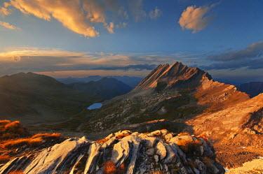 CLKLG88 Europe, France, Queyras, Agnello Pass - Taillante peak at sunset