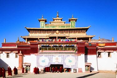TIB0163AW Buddhist monks, Samye monastery, Tibet, China