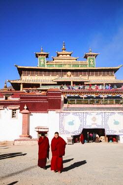 TIB0165AW Buddhist monks, Samye monastery, Tibet, China