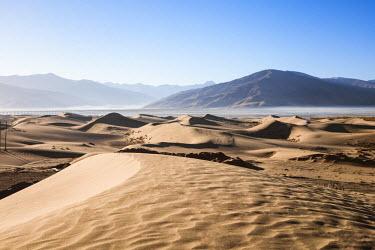 TIB0173AW Sand dunes near Samye, Tibet, China