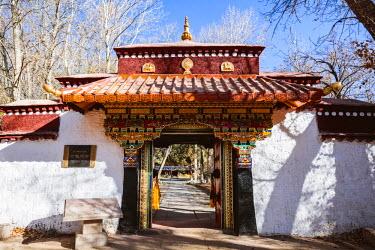 TIB0206AW Norbulingka summer palace, Lhasa, Tibet, China