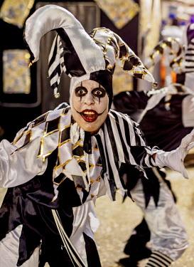 BRA3368AW Brazil, State of Rio de Janeiro, City of Rio de Janeiro, Samba Dancer in the Carnival Parade.