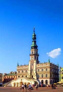 POL1747AW Poland, Lublin Voivodeship, Zamosc, Old Town, City Hall