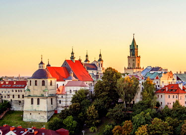 POL1818AW Poland, Lublin Voivodeship, City of Lublin, Old Town, Dominican Priory and Trinitarian Tower