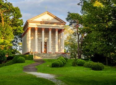 POL1831AW Poland, Greater Poland, Rogalin, St. Marcellinus Church with the Raczynski Mausoleum