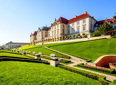 POL1919AW Poland, Masovian Voivodeship, Warsaw, Royal Castle eastern baroque facade
