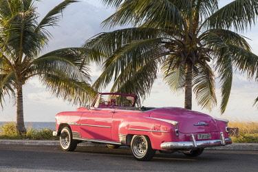 CUB1573AW Pink Chevrolet, Havana, Cuba