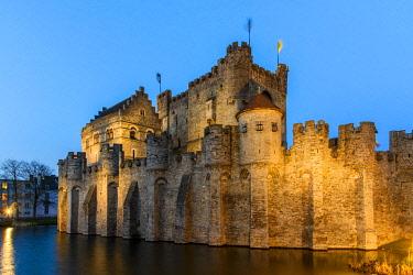 BEL1601AW Gravensteen castle, Ghent, East Flanders, Belgium