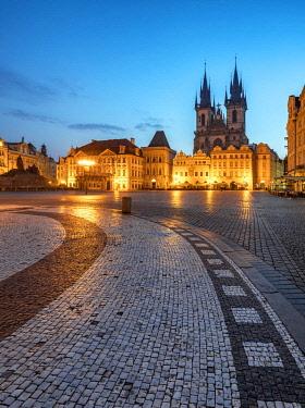 CZE1704AW Europe, Czech Republic, Prague, Old Town Square