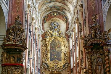 CZE1727AW Europe, Czech Republic, Prague, St Giles Church