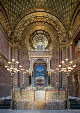 CZE1728AW Europe, Czech Republic, Prague, Spanish Synagogue