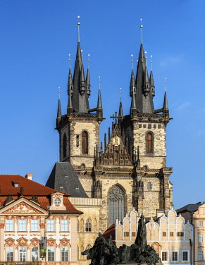 CZE1733AW Europe, Czech Republic, Prague, Old Town Square, Church of Our Lady Before Tyn