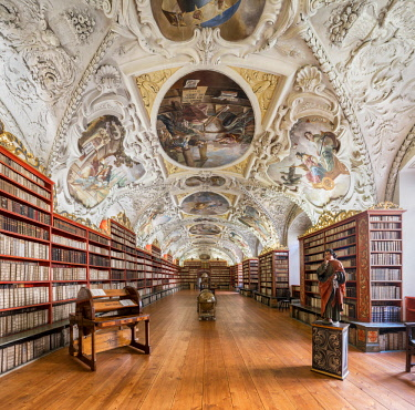 CZE1745AW Europe, Czech Republic, Prague, Strahov Monastery, Strahov Library, Theological Hall