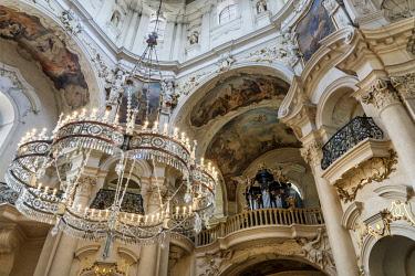 CZE1748AW Europe, Czech Republic, Prague, Old Town Square, St Nicholas Church