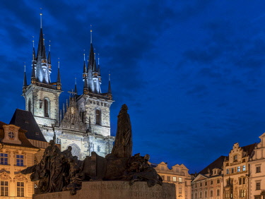 CZE1751AW Europe, Czech Republic, Prague, Old Town Square, Church of Our Lady Before Tyn