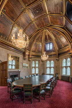ENG14395AW Europe,United Kingdom, England, London, Guild Hall, Chief Commoners Parlour