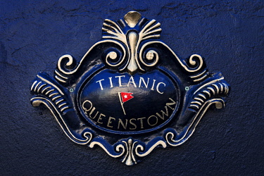 IRL0538 Titanic plaque in Pearse Square, Cobh, Co. Cork, Munster,Ireland.