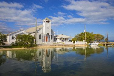 BA043RF Bahamas, Abaco Islands, Green Turtle Cay, New Plymouth, St Peter's Church
