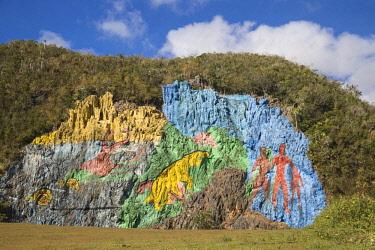 CB02667 Cuba, Pinar del Río Province, Vinales, Mural de la Prehistoria