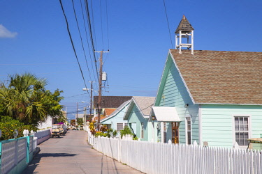 BA01324 Bahamas, Abaco Islands, Green Turtle Cay, New Plymouth, New Plymouth street