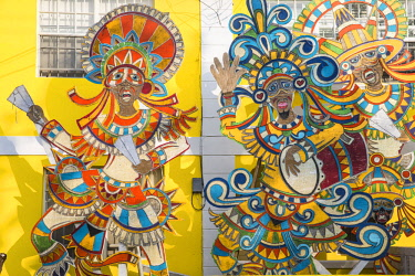 BA01368 Caribbean, Bahamas, Providence Island, Nassau, Junkanoo Museum
