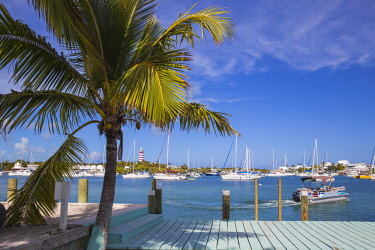 BA01244 Bahamas, Abaco Islands, Elbow Cay, Hope Town, Hope Town Island Lodge Hotel ferry dock