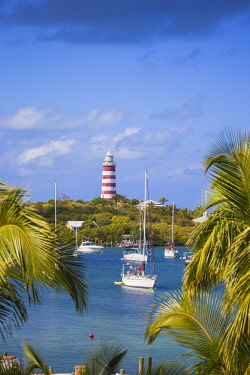 BA01179 Bahamas, Abaco Islands, Elbow Cay, Hope Town, Elbow Reef Lighthouse - The last kerosene burning manned lighthouse in the world - built by the The British Imperial Lighthouse Service during the 1860's