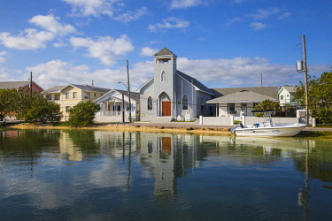 BA01308 Bahamas, Abaco Islands, Green Turtle Cay, New Plymouth, St Peter's Church