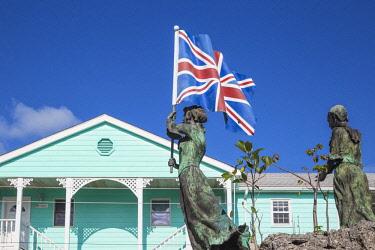 BA01314 Bahamas, Abaco Islands, Green Turtle Cay, New Plymouth, Loyalist Memorial Sculpture Garden