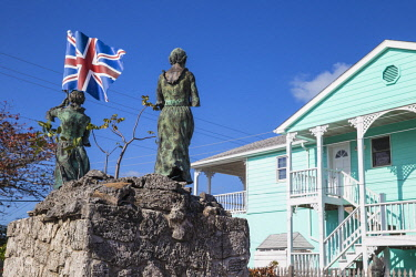 BA01315 Bahamas, Abaco Islands, Green Turtle Cay, New Plymouth, Loyalist Memorial Sculpture Garden