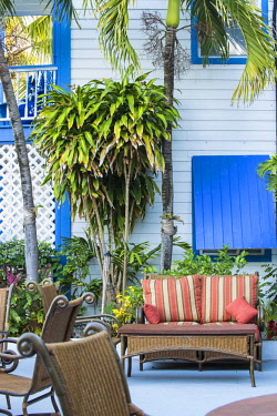 BA01194 Bahamas, Abaco Islands, Elbow Cay, Hope Town, Hope Town Island Lodge Hotel