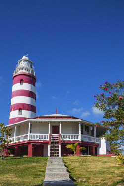 BA01203 Bahamas, Abaco Islands, Elbow Cay, Hope Town, Elbow Reef Lighthouse - The last kerosene burning manned lighthouse in the world - built by the The British Imperial Lighthouse Service during the 1860's