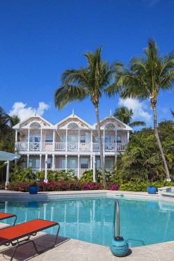 BA01208 Bahamas, Abaco Islands, Elbow Cay, Hope Town, Hope Town Inn and Marina