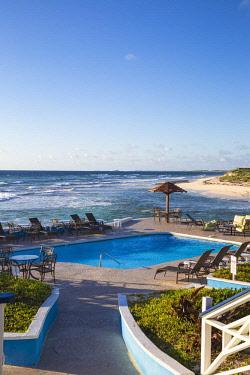 BA01215 Bahamas, Abaco Islands, Elbow Cay, Swimming pool at the Abaco Inn Resort