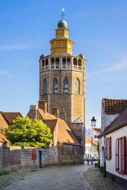 BEL1709AW Belgium, West Flanders (Vlaanderen), Bruges (Brugge). Jeruzalemkerk, 15th century church modeled after Jerusalem's Holy Sepulchre.