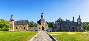 BEL1788AWRF Belgium, Waloon Region (Wallonia), Liege Province. Chateau de Jehay Castle.