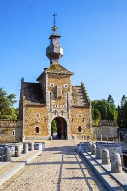 BEL1789AWRF Belgium, Waloon Region (Wallonia), Liege Province. Chateau de Jehay Castle.