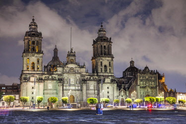 MEX1815AW The Metropolitan Cathedral of the Assumption of the Most Blessed Virgin Mary into Heaven is the largest cathedral in the Americas, and seat of the Roman Catholic Archdiocese of Mexico