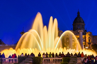 SPA7207AW Light show at Magic Fountain or Font Magica, Barcelona, Catalonia, Spain