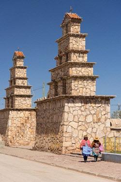 BOL8650AW South America, Andes, Altiplano, Bolivia,  San Christobal, Iglesia