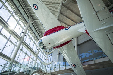 CA03223 Canada, Ontario, Ottowa, capital of Canada,  Canadian Museum of Aviation, interior with RCAF Snowbirds aerial demonstration team aircraft
