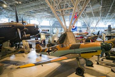 CA03224 Canada, Ontario, Ottowa, capital of Canada,  Canadian Museum of Aviation, WW2-era Messerschmitt ME-109 fighter
