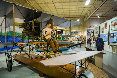 US61437 USA, New York, Finger Lakes Region, Hammondsport, Glenn H, Curtiss Museum, dedicated to early US aviation pioneer and resident Glenn Curtiss, Curtiss A-1 Triad