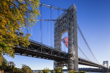 US61516 USA, New York, New York City,  George Washington Bridge, morning
